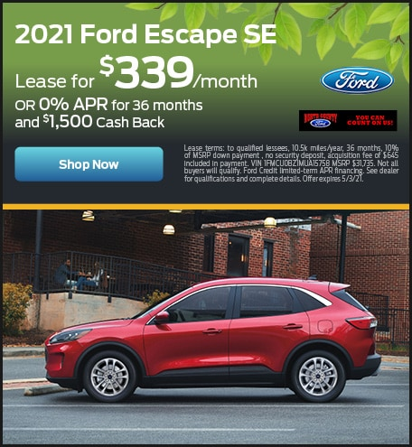 April 2021 Ford Escape
