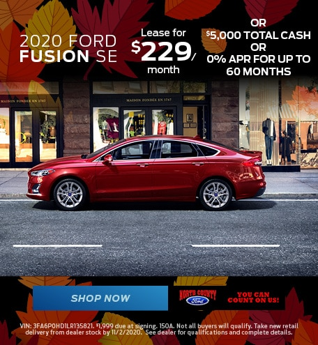 October 2020 Ford Fusion SE