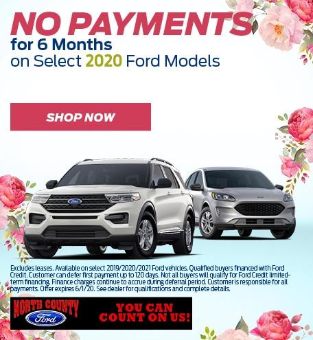 May No Payments Selected Ford Models