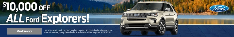 $10,000 off all Ford Explorers