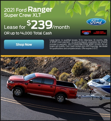 April 2021 Ford Ranger