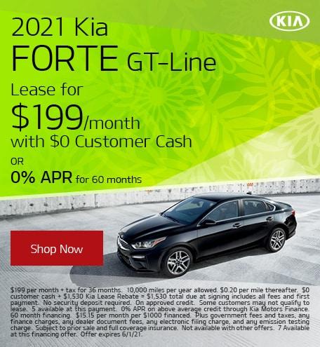 May 2021 Kia Forte GT-Line