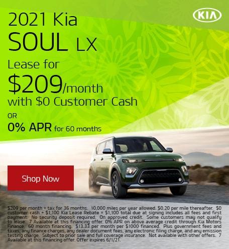 May 2021 Kia Soul LX
