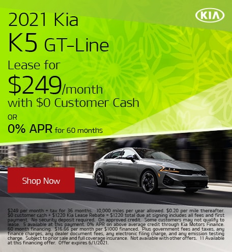 May 2021 Kia K5 GT-Line
