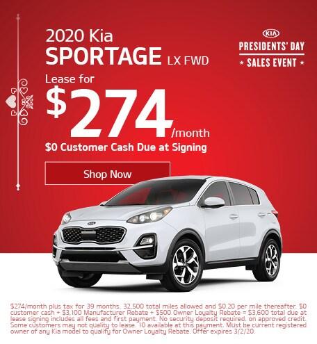 February 2020 Kia Sportage