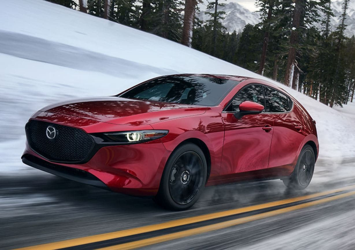 new 2020 Mazda3 in Snow