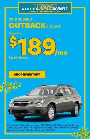 2019 Outback Lease