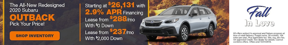 The All-New Redesigned 2020 Subaru Outback Pick Your Price!