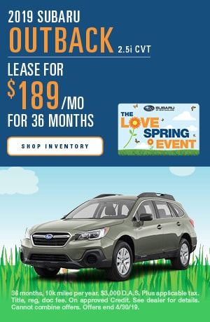 April 2019 Subaru Outback Lease