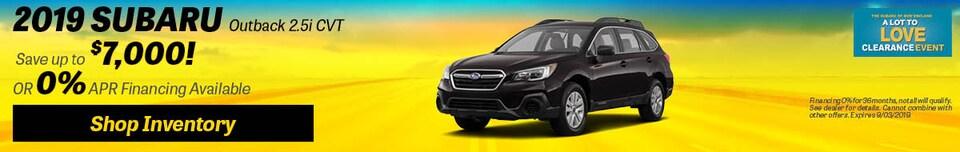 2019 Subaru Outback 2.5i CVT