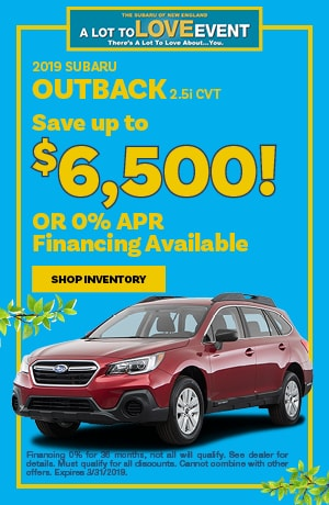 2019 Outback Finance Offer