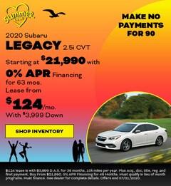 2020 Subaru Legacy 2.5i CVT