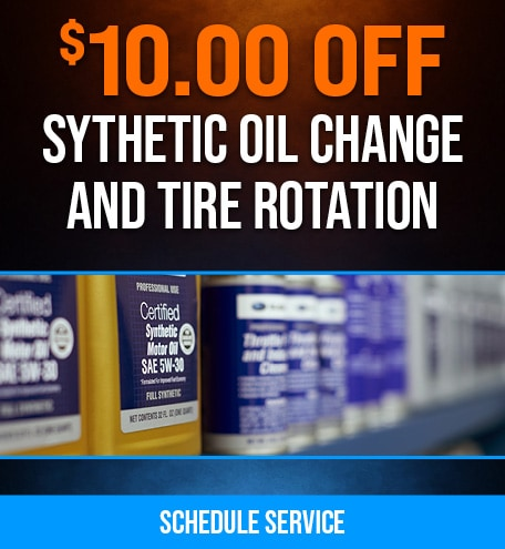 $10.00 Off Sythetic Oil Change and Tire Rotation