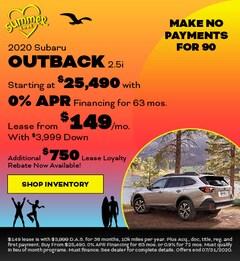 2020 Subaru Outback 2.5i