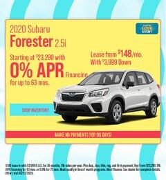 2020 Subaru Forester 2.5i