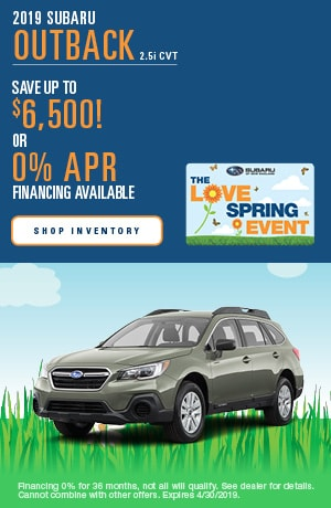 April 2019 Subaru Outback Finance Offer