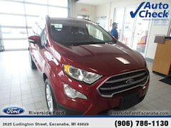 New 2019 Ford EcoSport SE SUV near Escanaba, MI