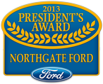Northgate Ford in Cincinnati is the proud recipient of the  President's Award from Ford Motor Company for it's outstanding sales and service record!