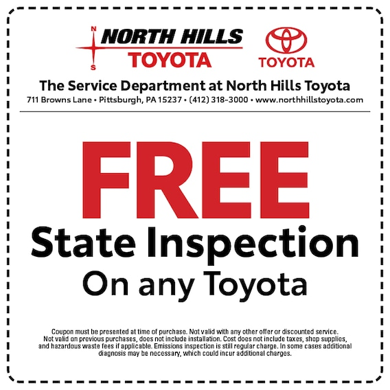 Service Specials | North Hills Toyota in Pittsburgh, PA