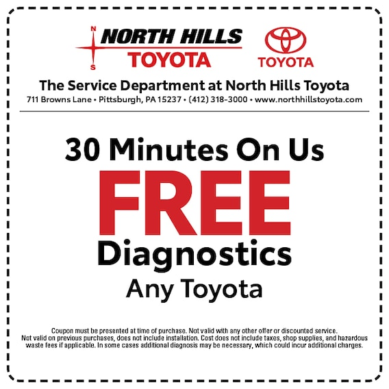 Service Specials North Hills Toyota In Pittsburgh Pa