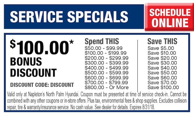North Palm Hyundai Service Specials | Napleton's North Palm Hyundai