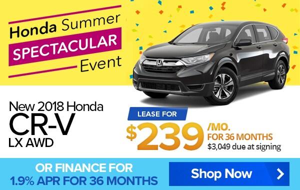 Honda CR V Lease For $239/mo Majestic Honda Lease