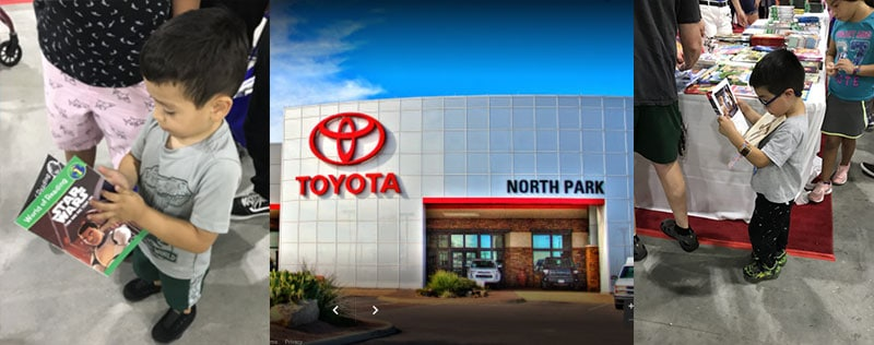 North Park Toyota Donates Books to Back to School