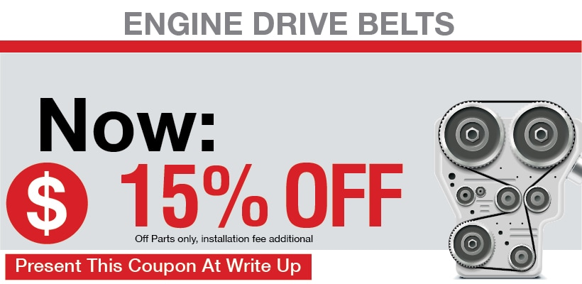Engine Drive Belts Coupon, San Antonio, TX Automotive Service Special Special