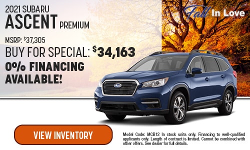 2021 Subaru Ascent Buy For Special
