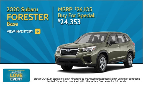 2020 Subaru Forester Buy For Special