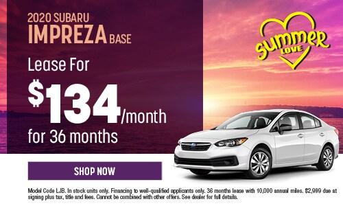 2020 Subaru Impreza Lease Offer