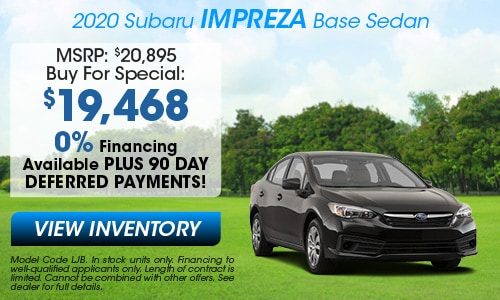 2020 Subaru Impreza Buy For Offer