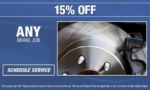 15% OFF Brake Job