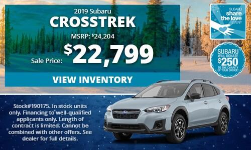 2019 Subaru Crosstrek Buy For