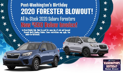 Post-Washington's Birthday 2020 Forester Blowout!