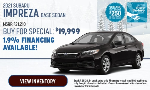 2021 Subaru Impreza Buy For