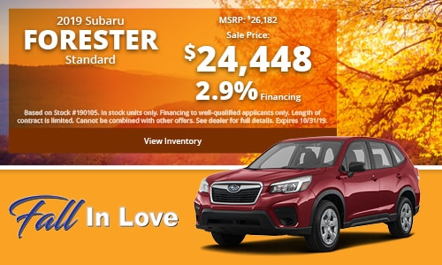 2019 Subaru Forester Buy For
