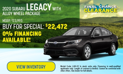 2020 Subaru Legacy Buy For Offer