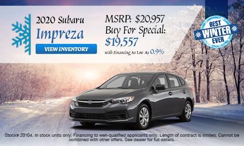 2020 Subaru Impreza Buy For
