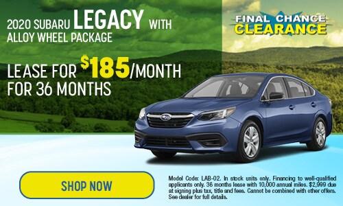 2020 Subaru Legacy Lease Offer