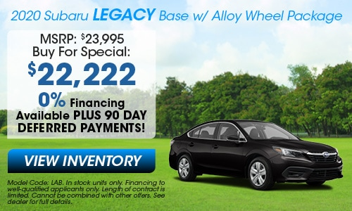 2020 Subaru Legacy Buy For Offer