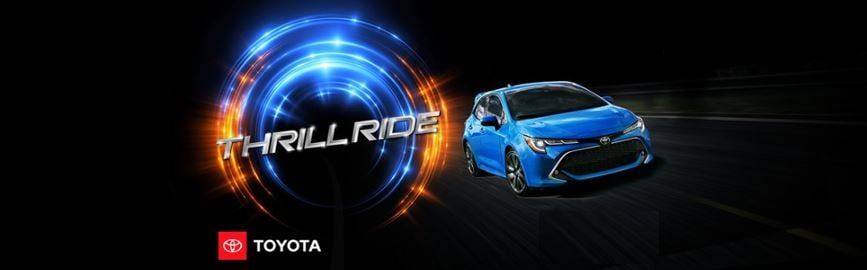 Toyota Thrill Ride Sales Event Jan 2019 is going on now at Northridge Toyota. View New Toyota leases and special offers