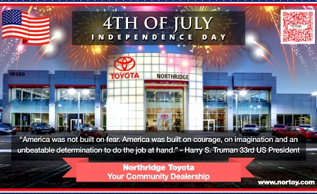 4th of July 2017 Northridge Toyota | Serving Porter Ranch