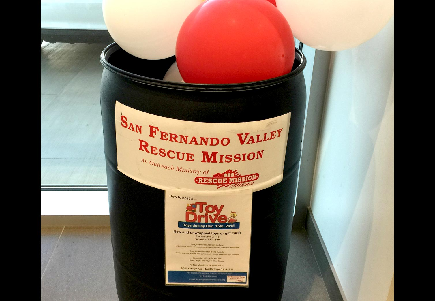 Toy Drive At Northridge Toyota serving Granada Hills - for San Fernando Valley Rescue Mission