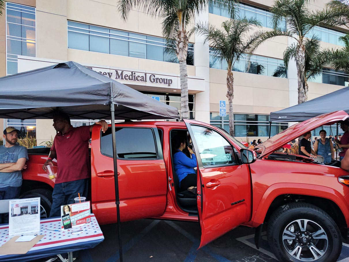 Toyota Tacoma 4th of July 2017 at Porter Ranch from Northridge Toyota | Serving all of San Fernando Valley & Greater Los Angeles