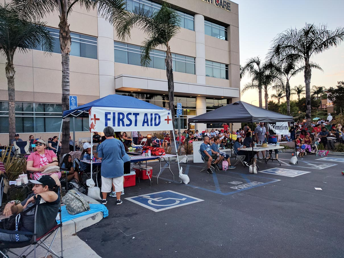 First Aid Station July 2017 at Porter Ranch from Northridge Toyota | Serving all of San Fernando Valley & Greater Los Angeles
