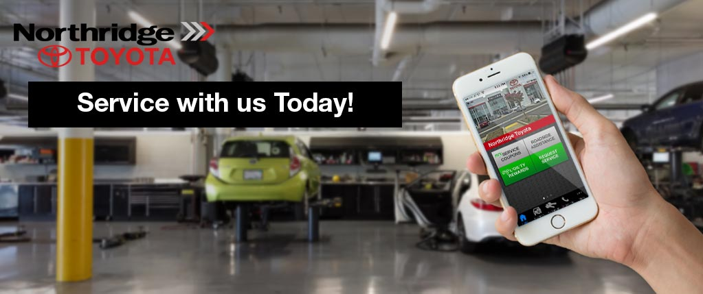 Download the app & Service with us today at Northridge  Toyota | FREE OIL CHANGES | Toyota Coupons | Schedule Service Instantly