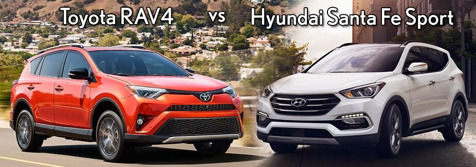 Santa Fe Toyota >> Hyundai Santa Fe Sport Vs Toyota Rav4 Earnhardt Hyundai North