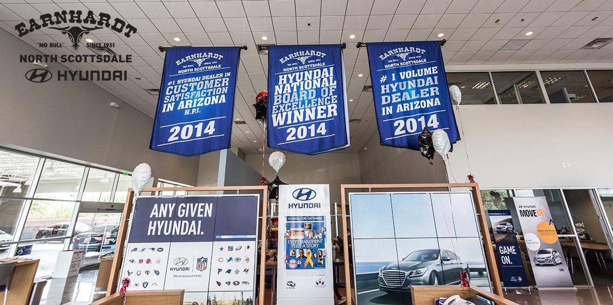 Hyundai dealership awards Hyundai showroom banners