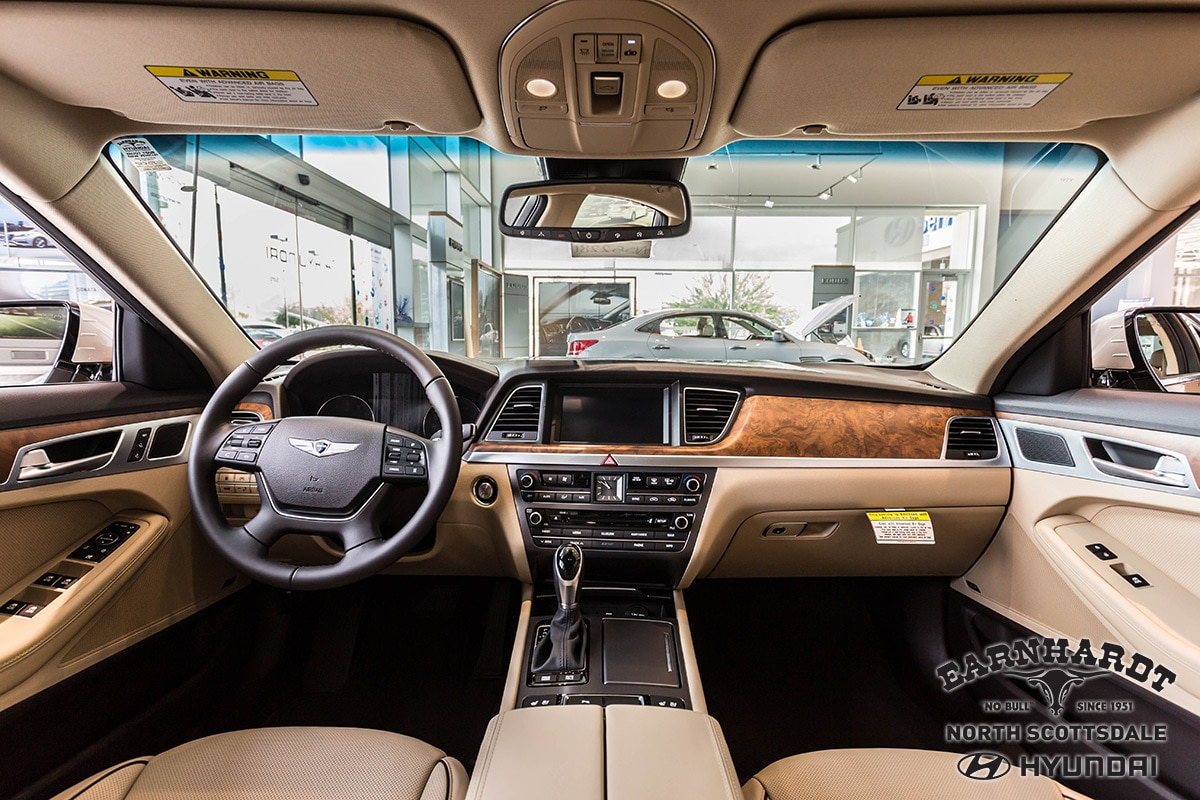 inside a new Genesis vehicle